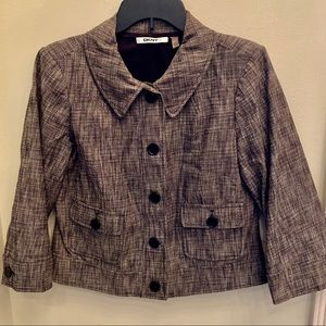 DKNYC Women's Size 8 Gray Cropped Jacket